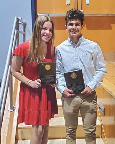 2021 winter athletic awards are presented in Clark