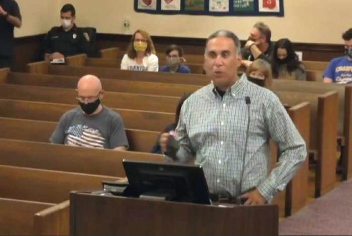 Community leader is honored at committee meeting in Cranford