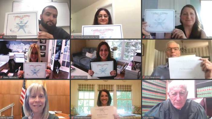 Seven volunteers train, take oath as advocates for foster youth in Union County