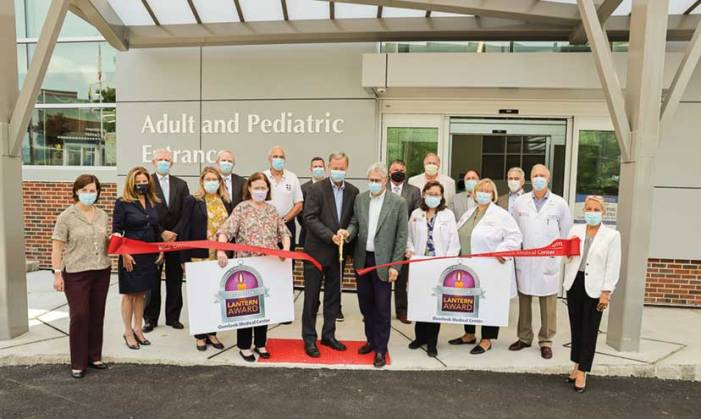 Overlook Medical Center opens new Bouras Emergency Department entrance, celebrates ENA Lantern Award