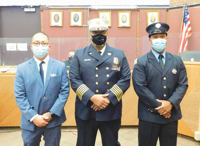 Borough of Roselle promotes police officers and appoints firefighters