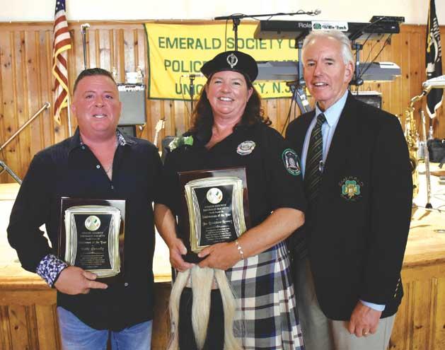 Union County Emerald Society honor Irishman and Irishwoman of the Year