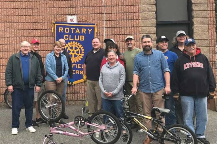 Rotary Club of Westfield collects used bikes to recycle to Honduras