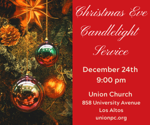 Christmas Candlelight service on December 24