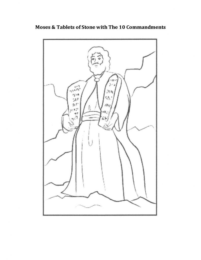 Coloring Moses with Stone Tablets