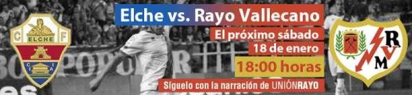 Cabecera Elche-Rayo Vallecano