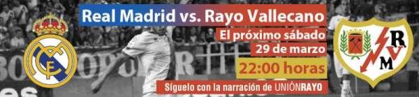 Cabecera Real Madrid - Rayo Vallecano