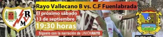 Cabecera Rayo Vallecano B - CF Fuenlabrada