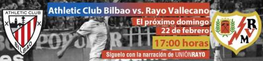 Cabecera Athletic de Bilbao - Rayo Vallecano