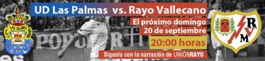 Cabecera UD Las Palmas - Rayo Vallecano