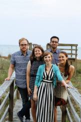 """Submitted by Kristi Woody - """"Friends from the later years of college. This was taken in Charleston for Ben and Margaret Wright's wedding. Ryan Oetting, Kelsey Nagy, Margaret Brinson, Josh Garcia, Kristi Woody. I'll never forget this trip!"""""""