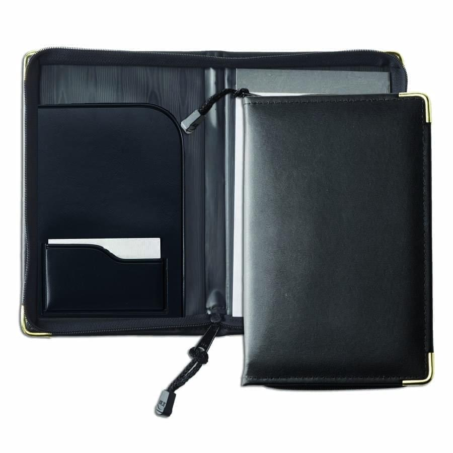Faux Leather Custom Junior Zipper Portfolio Folders USA