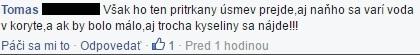 Jeden z komentárov pod fiktívnym článkom o vlastizrade Andreja Kisku (Foto: FB SHO)