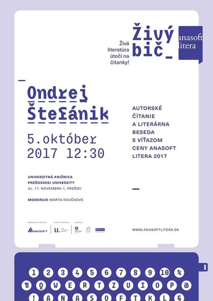 Pozvánka na literárnu besedu. Foto: FB Inštitútu slovakistiky a mediálnych študií