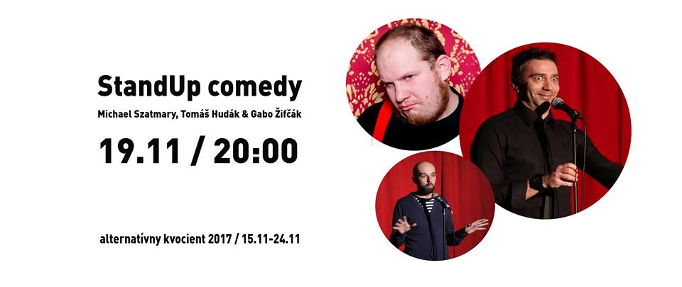 Michael Szatmáry, Gabo Žifčák a Tomáš Hudák. Pozvánka na standup komikov. (Foto: FB Wave klub)