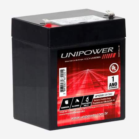 Bateria Estacionária 12V 5Ah VRLA UP1250