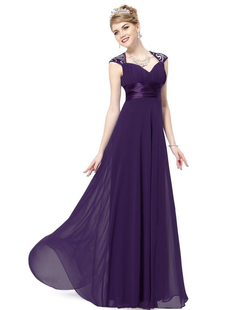 Vneck Sequins Chiffon Ruffles Empire Line Evening Bridesmaid Dress  Uniqisticcom
