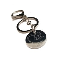 Heart Paw Print Key Ring - UniqJewelryDesigns