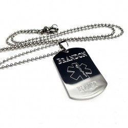 personalized emt dog tag