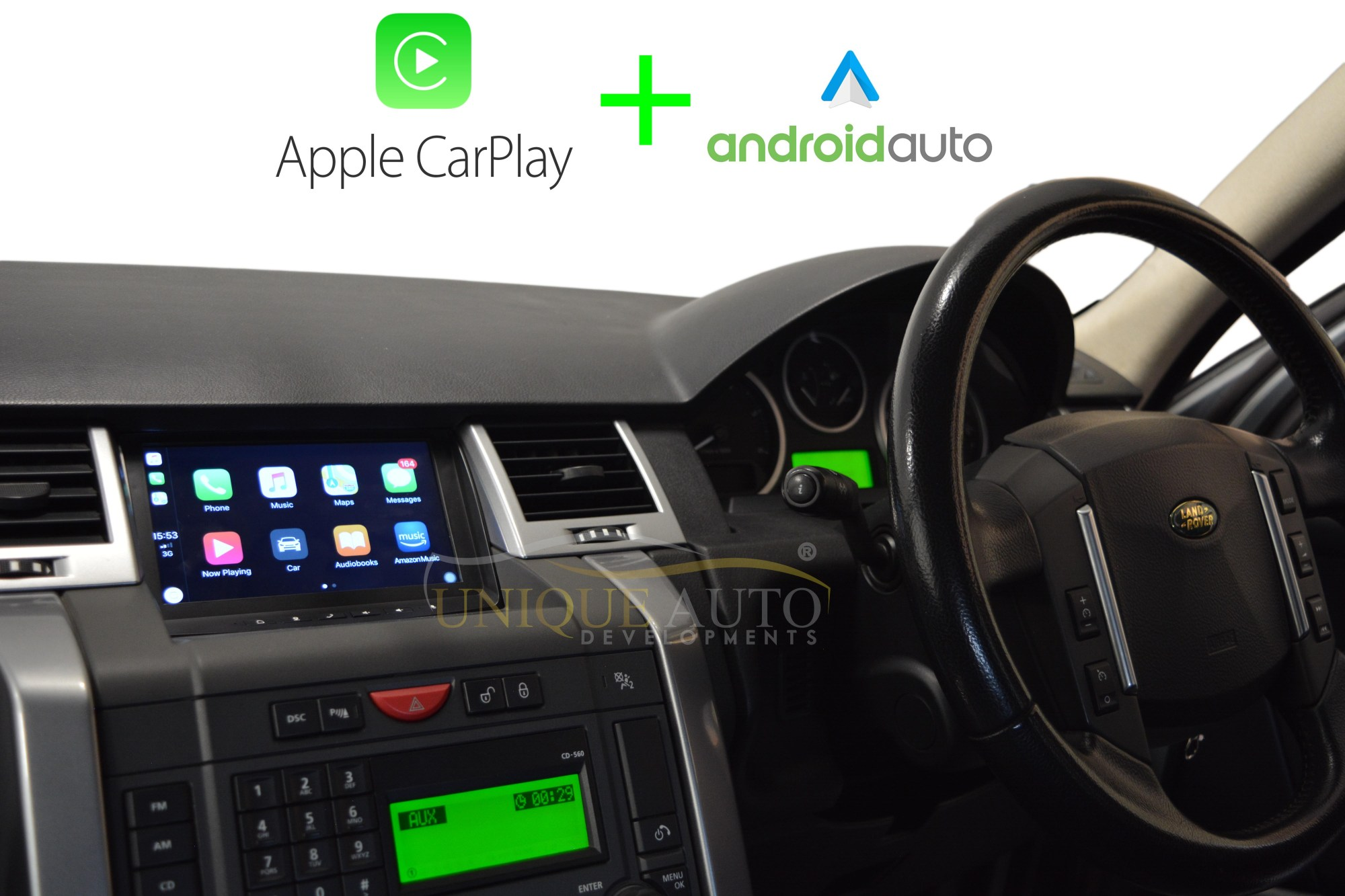 hight resolution of discovery 3 range rover sport android navigation with carplay and android auto unique auto developments