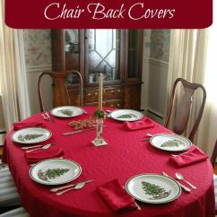 How To Make Dining Room Chair Covers White Must Have Christmas Back - Unique Decorations