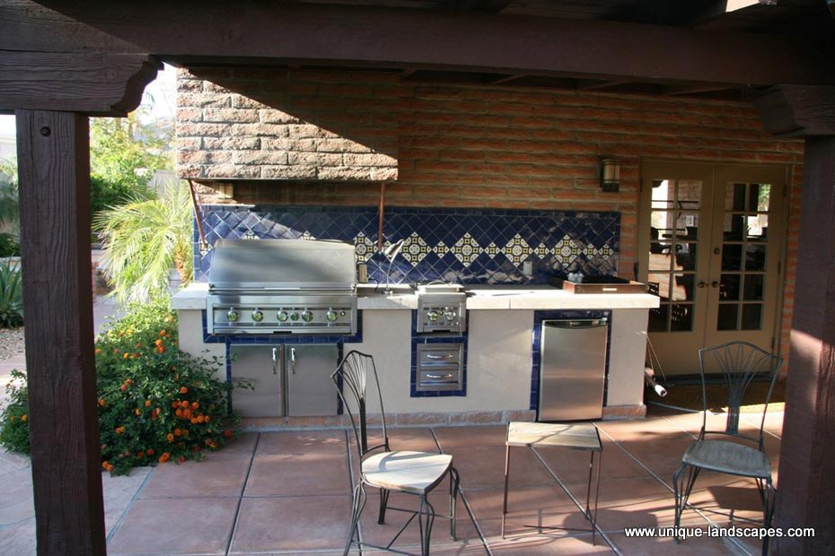 outdoor kitchen bbq cheap ideas kitchens photo gallery and this hacienda style has lots of tile accents countertops