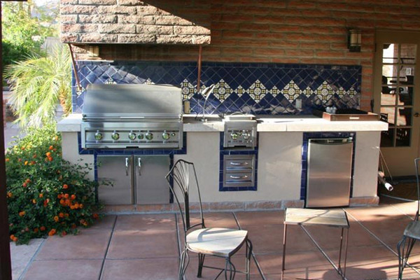 grill for outdoor kitchen makeover ideas kitchens and custom barbecues living phoenix area with barbecue tile counter tops