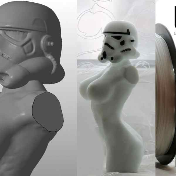 """White SBS """"Watson"""" plastic for 3D printer 1,75 mm. 0,5 kg."""