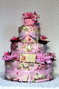 tea party baby shower diaper cake | Baby Shower