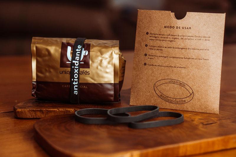 Parte interna da embalagem do café