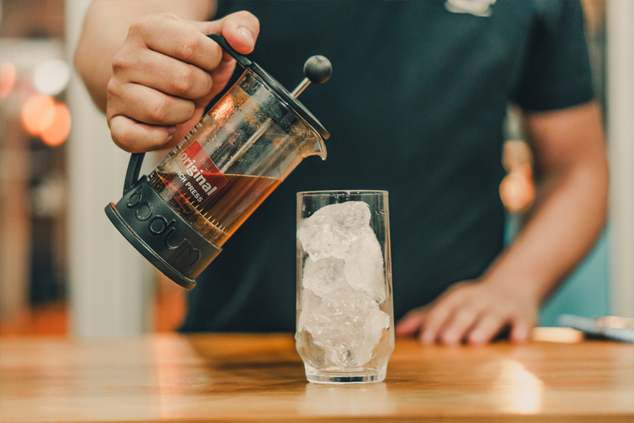 faça em casa café gelado