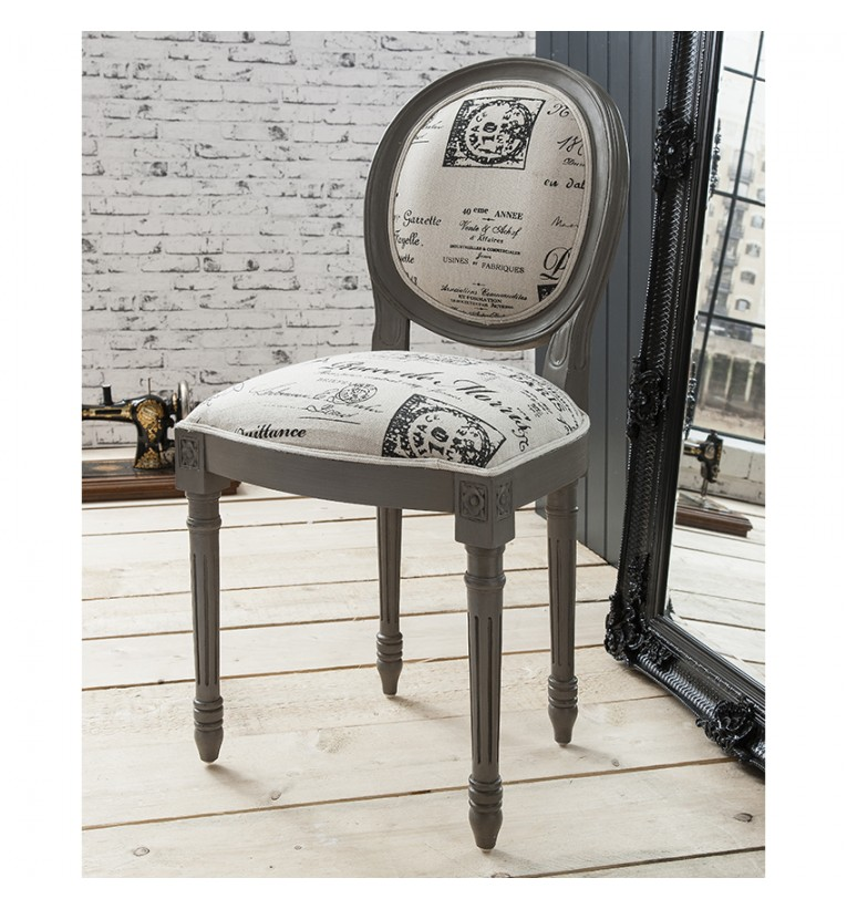 grey painted chairs sling chair outdoor furniture the new neutrals uniquechic limited set of two maison balloon back upholstered