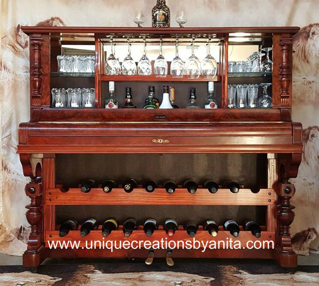 How To Repurpose A Piano Into A Bar Drinks Cabinet Home And Garden