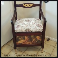 Antique Commode Chair Restored and Repurposed into a ...