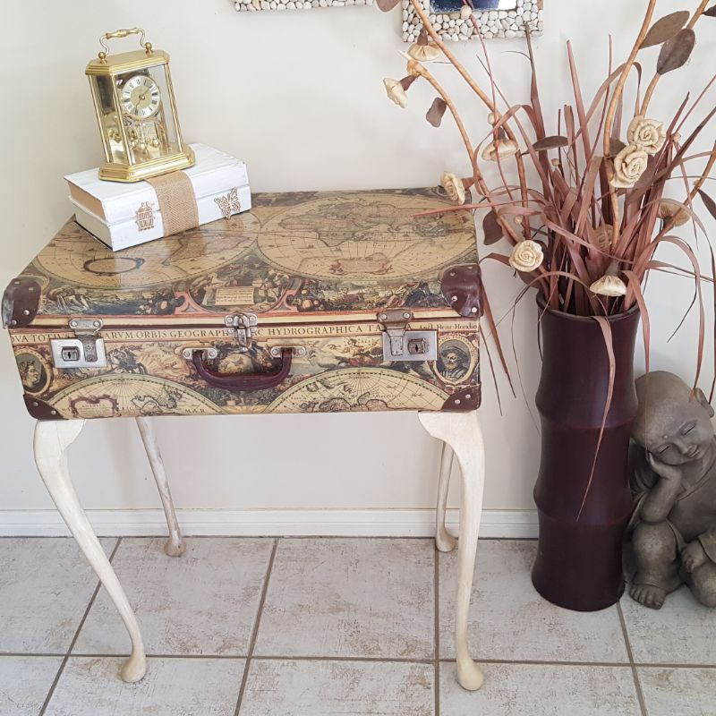 How to repurpose a vintage suitcase into a table
