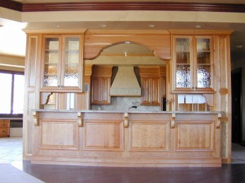 Natural Cherry Wood Kitchen