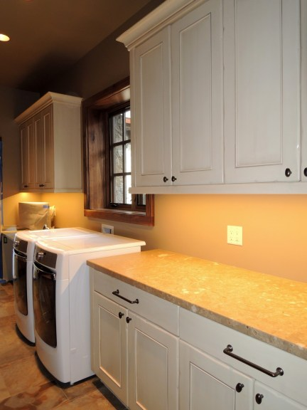 Painted Laundry Cabinets