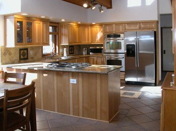 Natural Hickory Cabinetry
