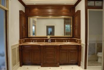 Mahogany Master Bath Vanity