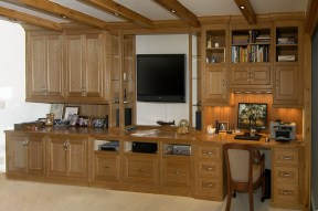 Master Bedroom Cherry Wall Unit