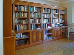 Maple cabinetry with glazed finish