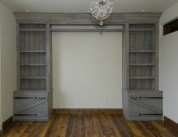 Pine cabinets with grayed driftwood finish
