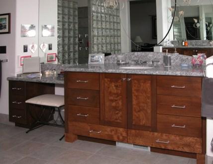 Walnut Burl Master Bath Vanity