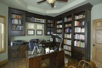 Black walnut bookshelves & desk