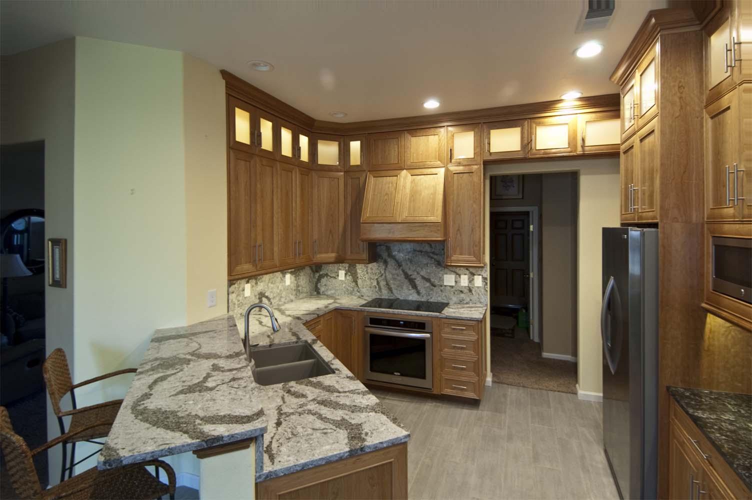 Cherry Wood Kitchen Unique Design Cabinet Co