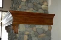 Burl Inlayed Mantel