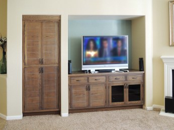 Driftwood finished oak cabinetry