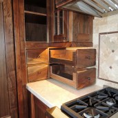 Walnut Kitchen Dovetailed Drawers