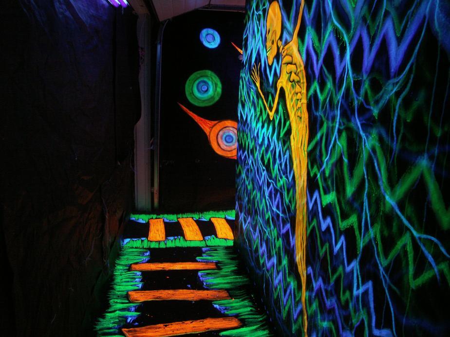 Fluorescent or luminous paint  Unique Design Company