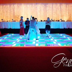 White Bistro Chairs Vinyl Strap Chaise Lounge Led Dance Floor Rental